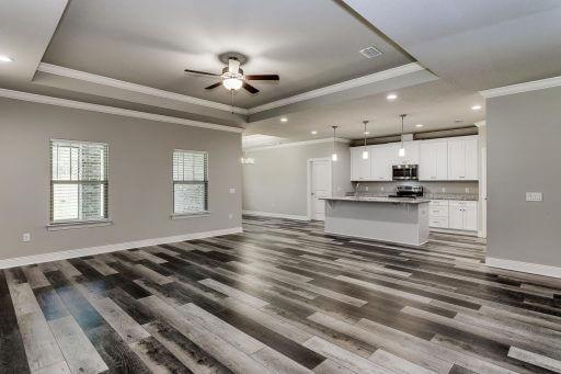 Cadiz Floor Plan Family Room to Kitchen