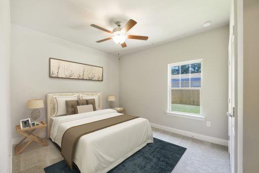 Olivera Floor Plan Bedroom 4 - Staged