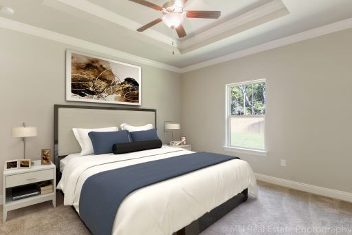 Rosetta Floor Plan Owner Bedroom - Staged