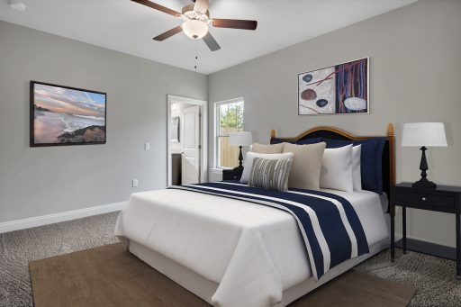 Rosewood Floor Plan Bedroom 2 - Staged