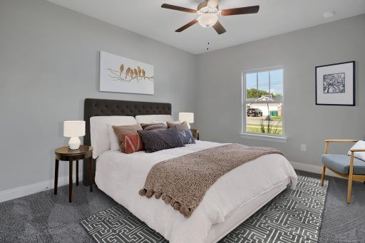 Rosewood Floor Plan Bedroom 3 - Staged