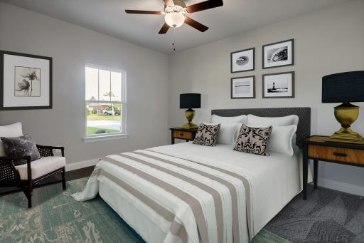 Rosewood Floor Plan Bedroom 4 - Staged
