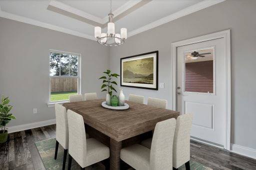 Rosewood Floor Plan Dining - Staged