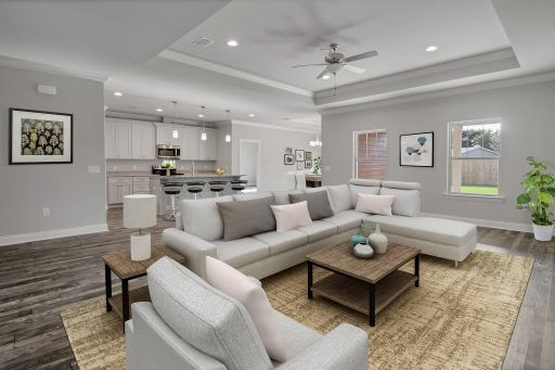 Rosewood Floor Plan Family Room - Staged