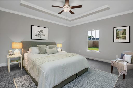 Rosewood Floor Plan Owner Bedroom - Staged