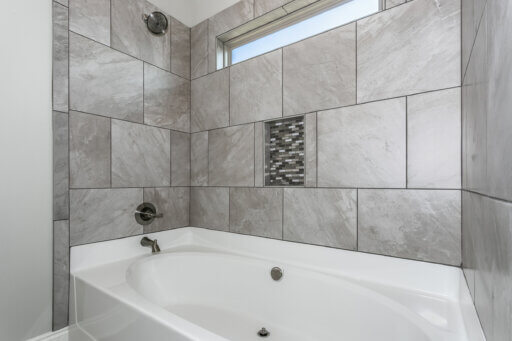 Ramsey Walker Tortuga Floor Plan-Owner Bathroom Shower-Tub