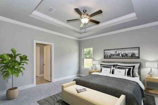 Tortuga Floor Plan Owner Bedroom (Staged)