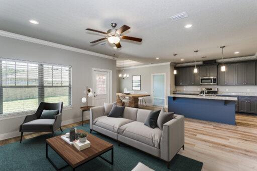 Ramsey Walker Medlin 2297 Floor Plan-Family Room-Kitchen (Staged)