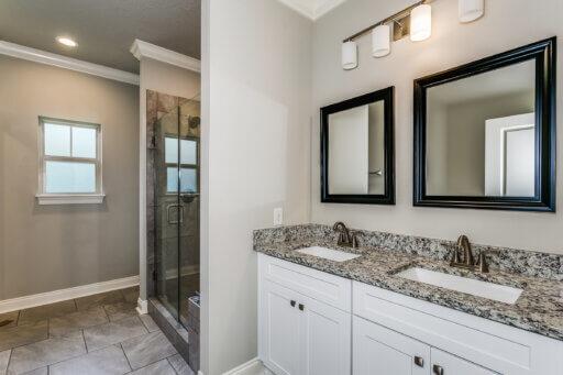Ramsey Walker Village 1876 Floor Plan-Owner Bathroom