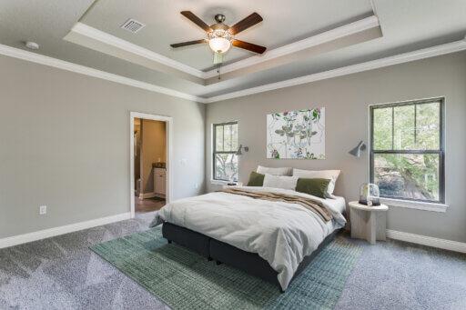 Ramsey Walker Village 1876 Floor Plan-Owner Bedroom (staged)